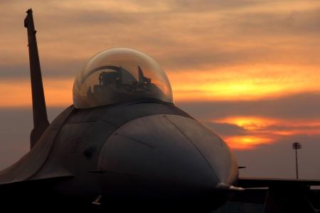 F-16 ファルコン戦闘機 写真素材