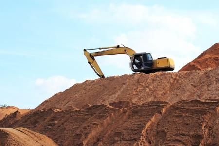 Backhoe loader stay on construction site