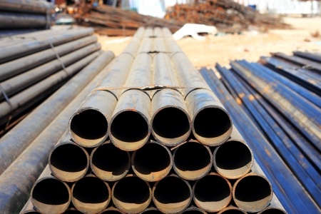 Structural steel pipe for construction photo