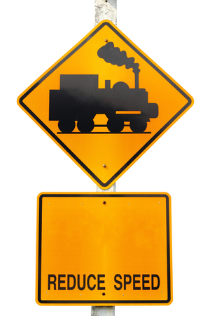 warning train traffic sign  photo