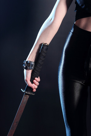 sword in hand sexy girl   photo