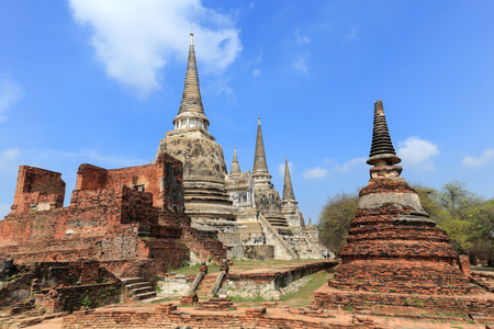 ancient pagoda on wat phrasrisanpetch temple in the ayutthaya  thailand  photo