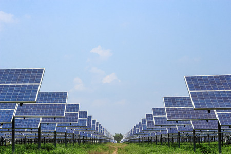 power supply: solar panel ecological  power for alternative  energy   Stock Photo