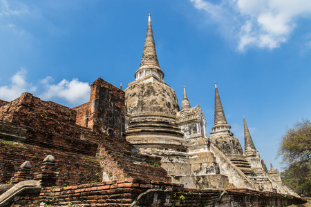 ancient pagoda on wat phrasrisanpetch temple in the ayutthaya historical park  thailand  photo