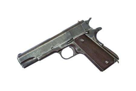 pistol on white background photo