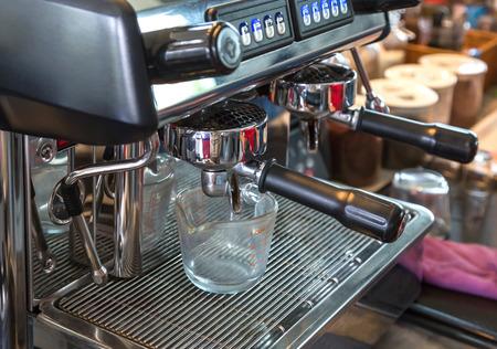 cappaccino: Close up coffee machine in restaurant.
