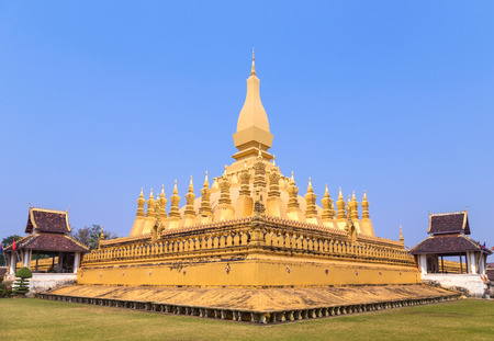 wat pha that luang pagoda in Vientiane Lao.