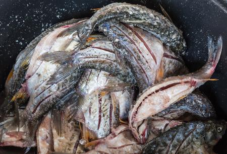 pla: Local thai pickled fish or Pla- som