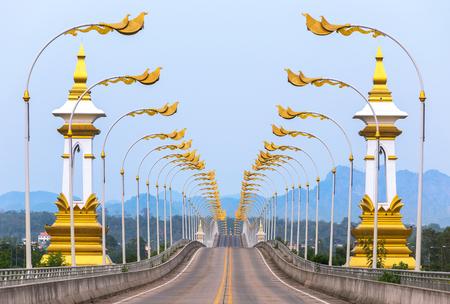 第 3 タイのナコーンパノム タイでラオス友好橋。 写真素材