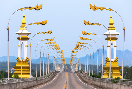 3rd Thai - Lao friendship bridge at Nakhon Phanom Thailand.