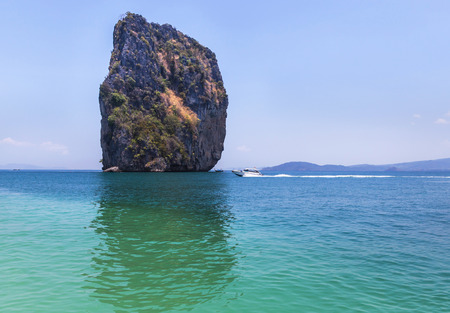 aonang: view of andaman sea at po da island, krabi Thailand