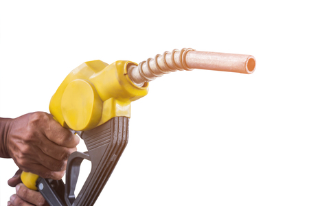 hand with  fuel nozzle for vehicle on service station