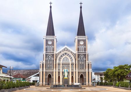Old catholic church in Chantaburi province, Thailand.