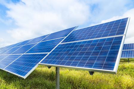 solar power station: photovoltaics  solar panels in solar power station