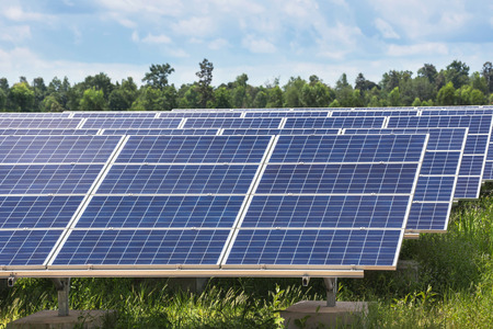 solarcell: solar cells in solar power station alternative renewable energy from natural