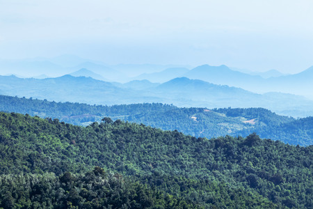 High angle landscape view from the peak viewpoint phu ruea national park Loei,Thailand in sunny day Reklamní fotografie
