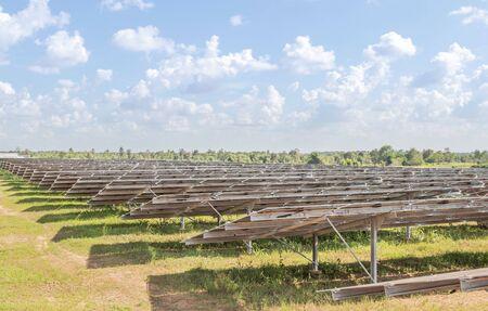 solar cells in power station alternative renewable energy from the sun 免版税图像