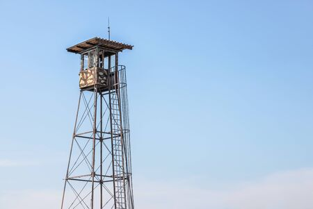 military security watchtower guardhouse observation tower
