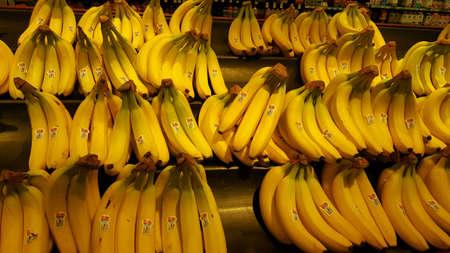 Bananas on shelve