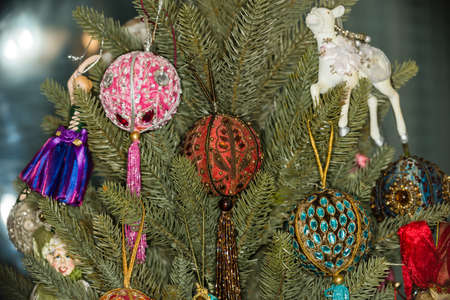 fragments: Fragments of the decoration of the Christmas tree Stock Photo