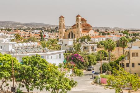 パフォス、キプロスの都市の眺め。