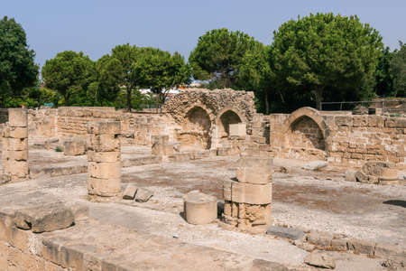 Detail of the archaeological park in Paphos, Cyprus.