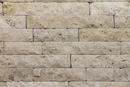 Natural Italian stone. Smooth travertine surface