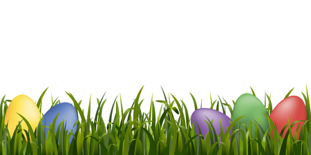 Element with grass for easter design. Vector.