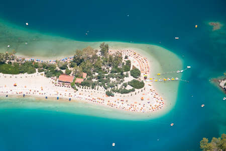 Oludeniz view from parachute, Fethiye, Turkey photo