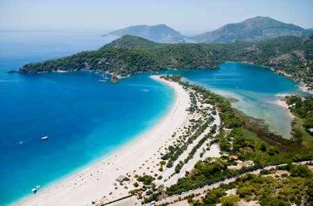 Oludeniz view from parachute, Fethiye, Turkey Stock Photo - 22334000