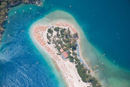 fethiye: Oludeniz view from parachute, Fethiye, Turkey