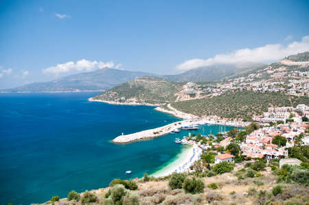 Kalkan view, sea and mountains, Turkey photo