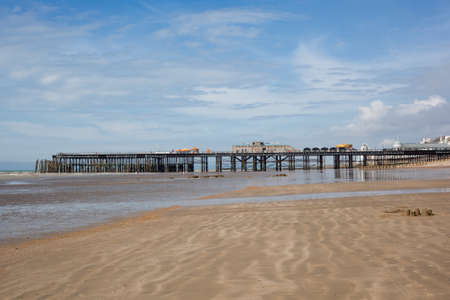 rebuilt: New Hastings pier which was rebuilt and open to public in 2016, East Sussex. England