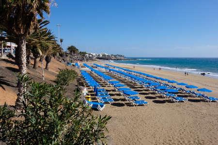 Puerto del Carmen promenade, Lanzarote, Canary islands Stock Photo