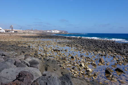 Costa Teguise coastline, Lanzarote, Canary islands