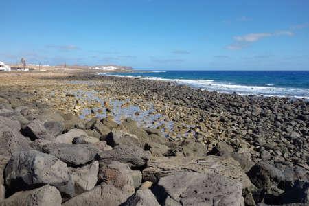 Promenade in Costa Teguise, Lanzarote, Canary islands