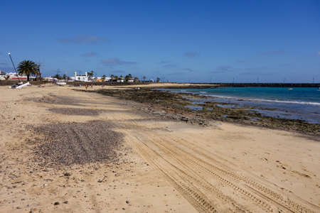 lanzarote: Costa Teguise coastline, Lanzarote, Canary islands