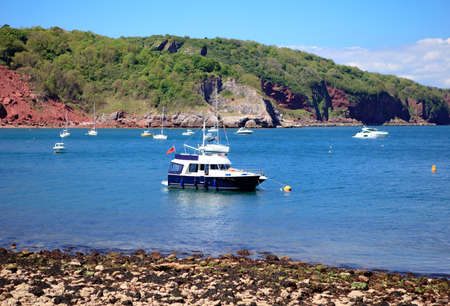 Babbacombe beach, view of the sea and boats