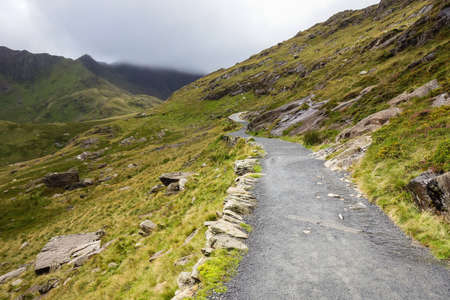 Path in Snowdonia National Park, North Wales, United Kingdom, selective focus Stock Photo