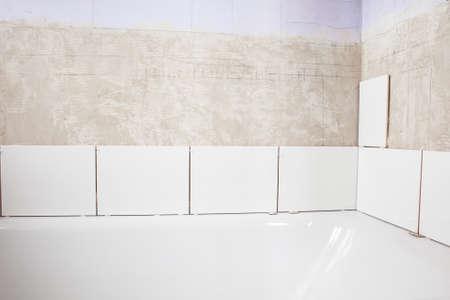 tiling: Home improvement: tiling bathroom walls