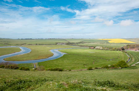 View of Cuckmere river and the valley