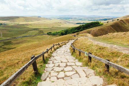 Scenery of Mam Tor, Peak District. UK Banco de Imagens