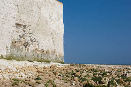 Low tide, Seven Sisters National park, East Sussex, UK, chalk coastline