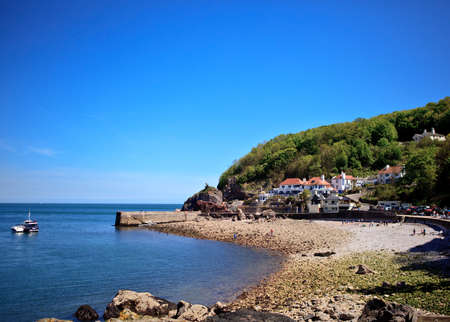 Babbacombe beach in Devon, England Stock Photo