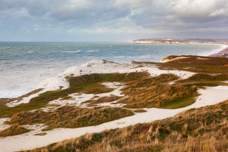 Seaford Head walk on top of the cliffs, East Sussex, Stock Photo