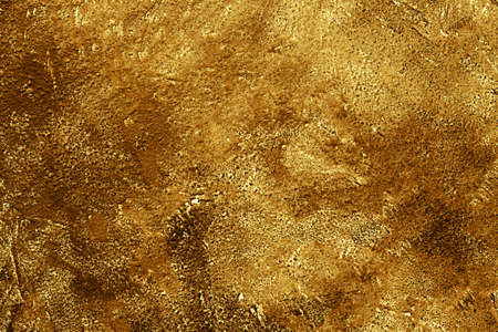 Gold concrete background texture, table top, overhead view