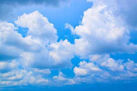 the arable land: The sky blue and cloud Stock Photo