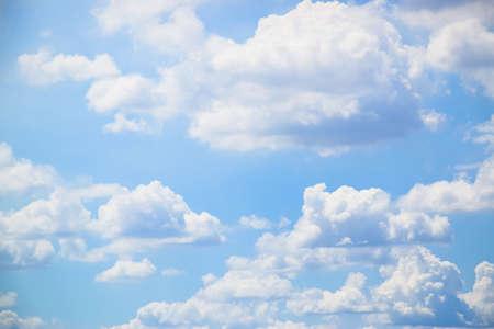 Blue sky and white clouds background Reklamní fotografie