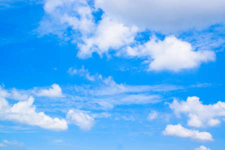 White Clouds on the  Blue Sky
