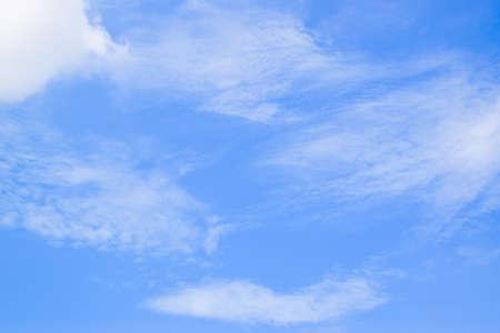 Blue sky background with Tiny clouds Reklamní fotografie